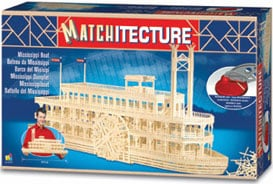 mississippi steamboat 3 dimensional jigsaw puzzle made of matchsticks for serious builders great gif mississippiboat