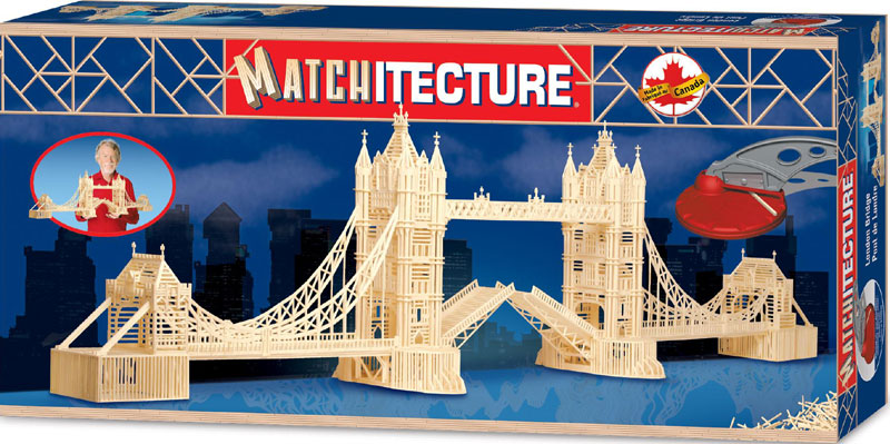 london bridge 3d matchstick jigsaw puzzle by matchitecture, puzzle of londonbridge london-bridge