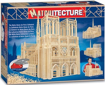 notre dame cathedral of Paris replica model made out of match sticks puzzle design very difficult fu notredamedepariscathedral