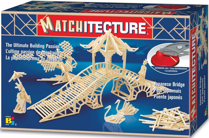 japanese bridge 3d matchstick jigsaw puzzle by matchitecture, puzzle of japanbridge japanese-bridge-matchstick-puzzle