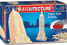 empirestate building new york 3d matchstick jigsaw puzzle 650 microbeams gluepuzzle great showpiece empirestatebuildingmatchstick