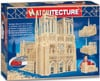 notre dame cathedral of Paris replica model made out of match sticks puzzle design very difficult fu