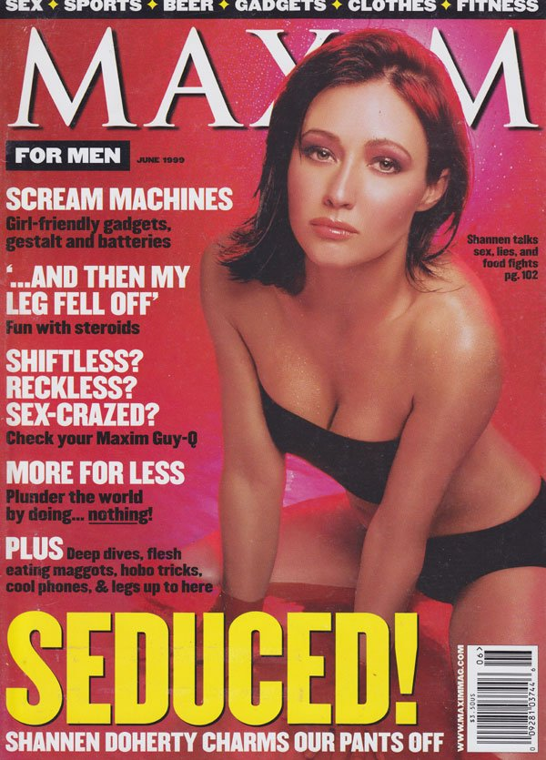 Maxim # 19 - June 1999 magazine back issue Maxim magizine back copy 1999 back issues maxim men's magazine sex sports beer gadgers clothes fitness celebrity interviews s