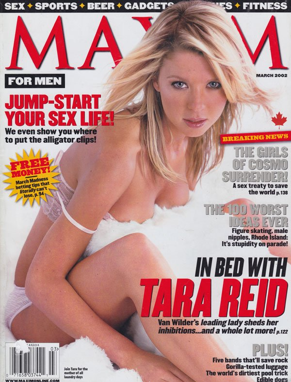 Maxim # 51 - March 2002 magazine back issue Maxim magizine back copy maxim mag back issues 2002 tara reid covergirl sports sex advice fitness health sexy almost nude bab