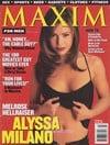 Alyssa Milano magazine cover Appearances Maxim # 6 - March 1998