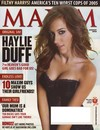 haylieduff adorns the front cover of Maxim Magazine for January 2006 hottest girlfriends in town Magazine Back Copies Magizines Mags