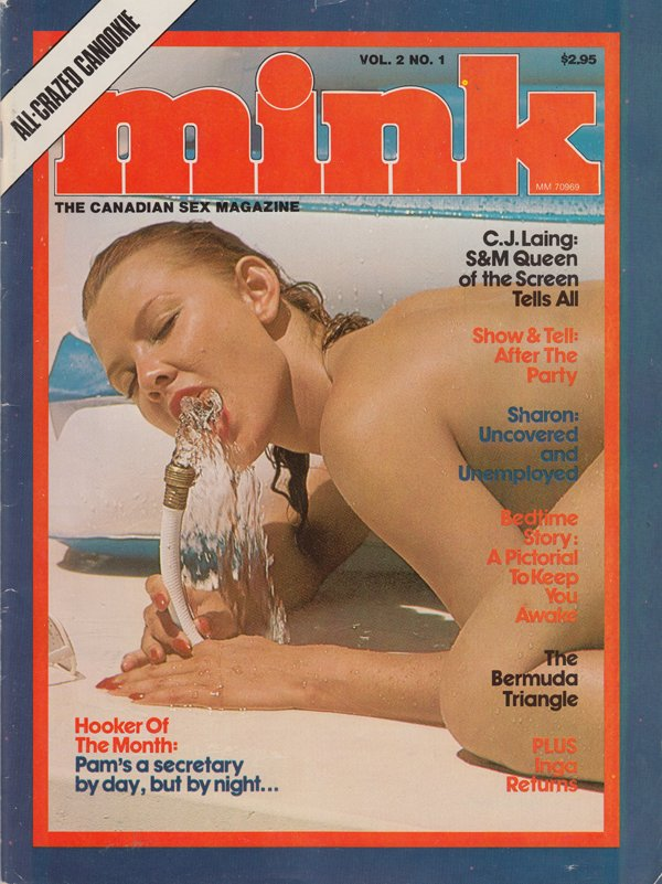 Mink Vol. 2 # 1 magazine back issue Mink magizine back copy cj laing s and m queen of he screen show and tell after the party sharon uncovererd and unemployed b