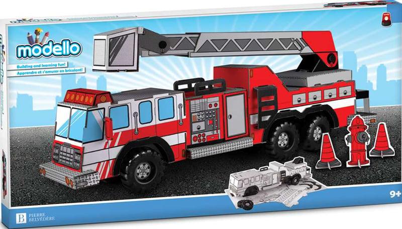 fire truck modello puzzle, color and build your own fire truck by modello fire-truck-modello