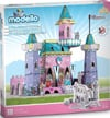 princess castle modello puzzle, color and build your own princess casrle Puzzle