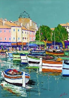 Port of Cassis painting by Audiber jigsaw puzzle 1500 Pieces by Nathan harborofcassis
