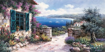 2000 Pieces Jigsaw Puzzle manufactured by Nathan Puzzles # 878550 Mediterranean View by Vincent mediterraneanview