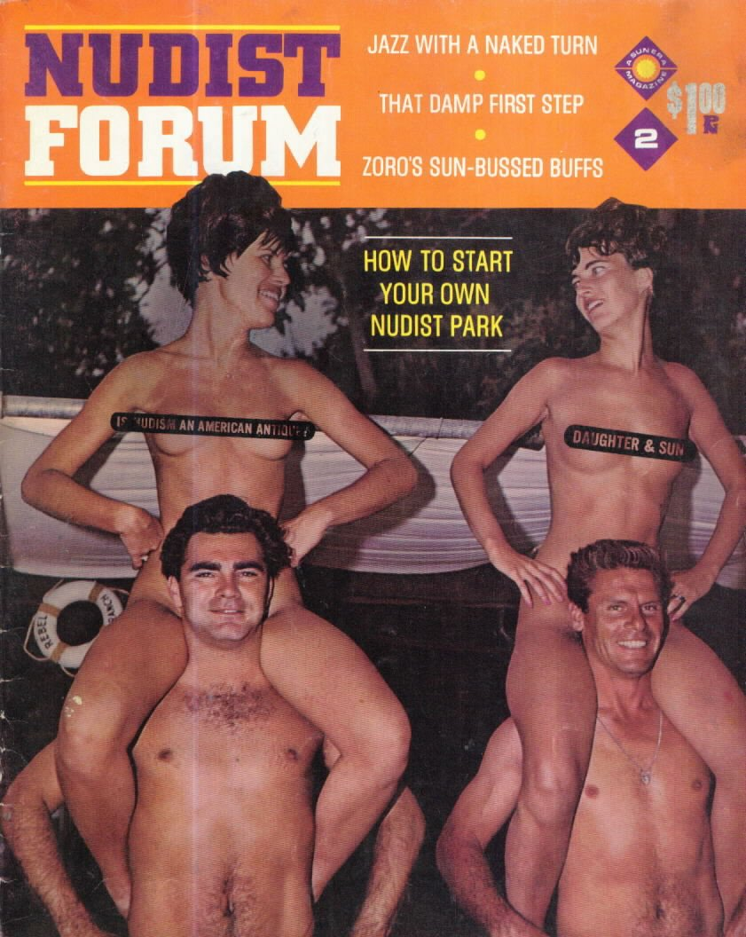 Nudist Forum # 2 magazine back issue Nudist Forum magizine back copy
