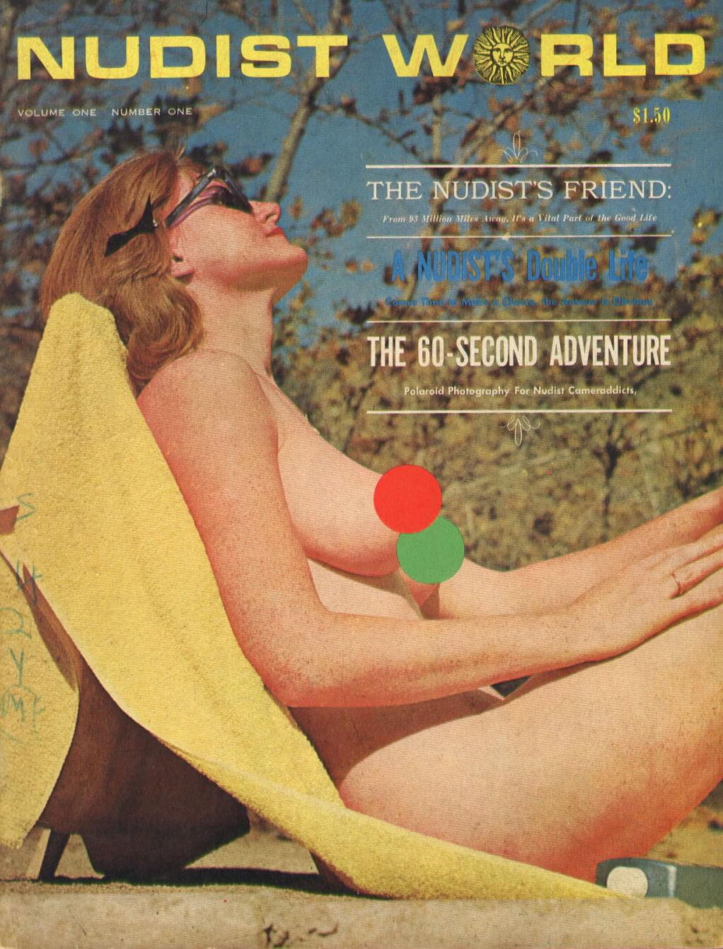 Nudist World Vol. 1 # 1 magazine back issue Nudist World magizine back copy
