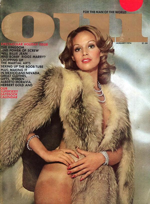 Oui January 1974 magazine back issue Oui magizine back copy oui magazine back issues, sexy nude girls, new magazine sluutish whoreness