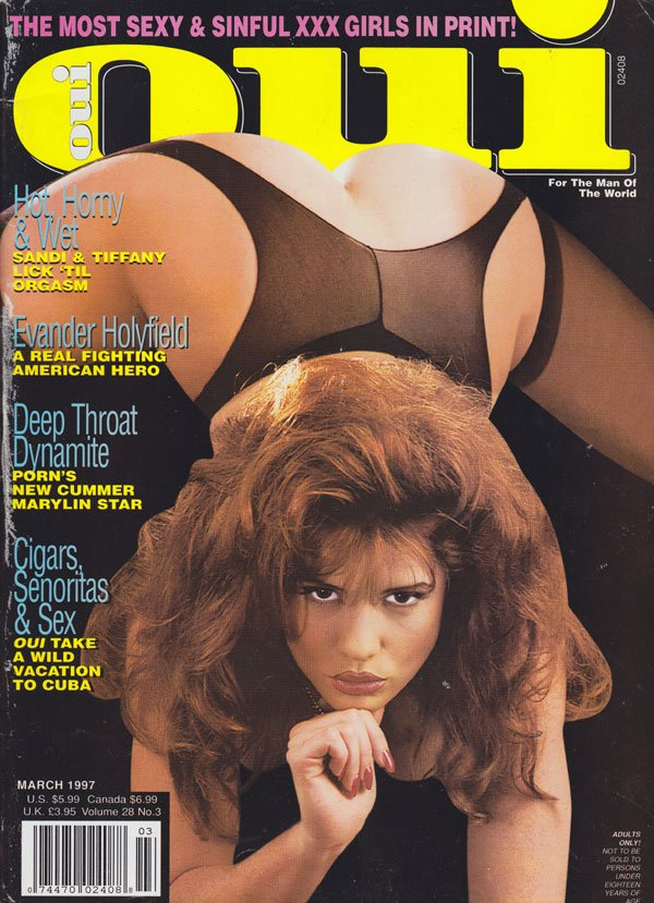 Oui March 1997 magazine back issue Oui magizine back copy oui magazine back issues 1997 sexy and sinful women in xxx photos naughty raunchy spreads tight puss