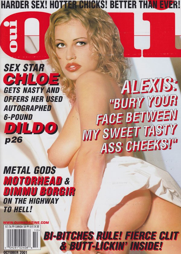 Oui October 2001 magazine back issue Oui magizine back copy oui magazine 2001 back issues hot curvy sex women nude erotic porn star pix dirty girls spread wide