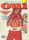 Oui April 1987 magazine back issue