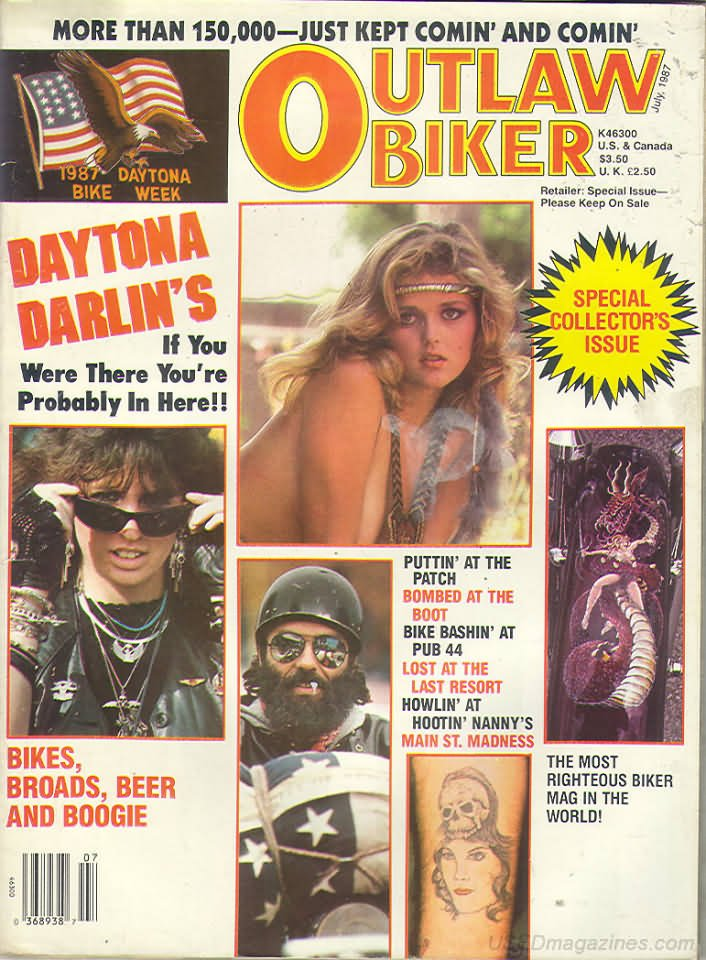 Outlaw Biker July 1987 Magazine Back Issue Outlaw Biker ...