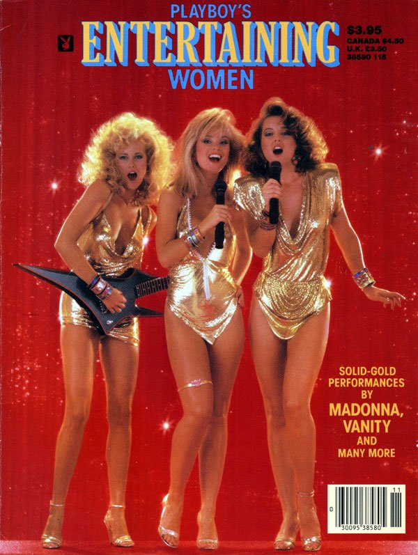 Entertaining Women (1985) magazine back issue Playboy Newsstand Special magizine back copy playboy's entertaining women, solid-gold performances by madonna vanity and many more, sexy women si
