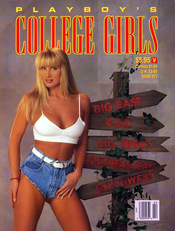 College Girls # 3 (1991) magazine back issue Playboy Newsstand Special magizine back copy playboy's special issue, college girls big east acc bgi west southeastern southwest, young and tasty
