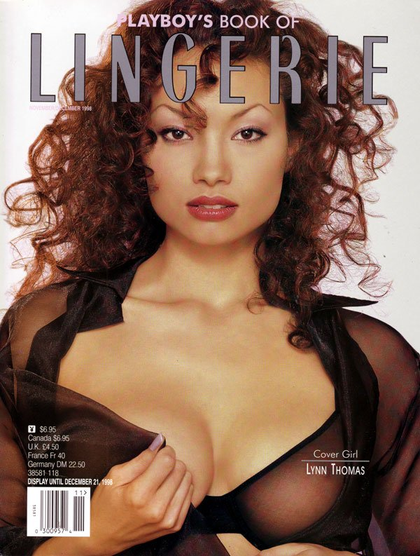 Lingerie # 64 - November/December 1998 magazine back issue Playboy Newsstand Special magizine back copy playboy's book of lingerie, covergirl lynn thomas, sexy girls in little apparel, backissues 1990s, v