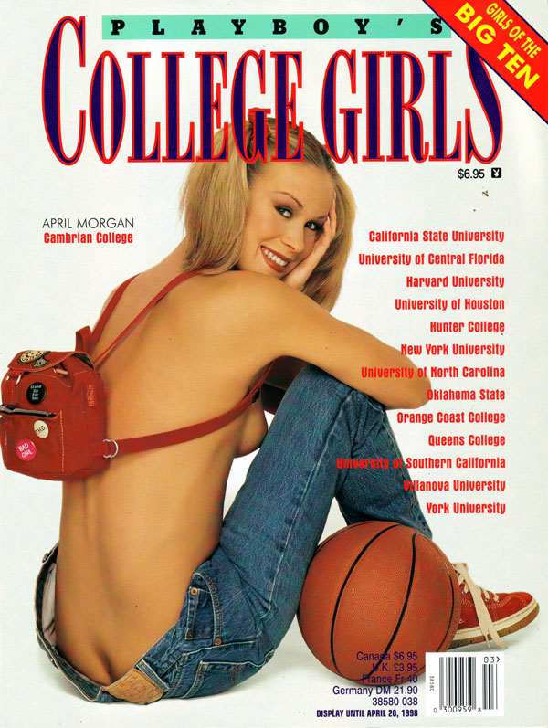 College Girls # 8 (1998) magazine back issue Playboy Newsstand Special magizine back copy playboy's college girls, featuring girls of the big ten, april morgan, cambrian college, backissues