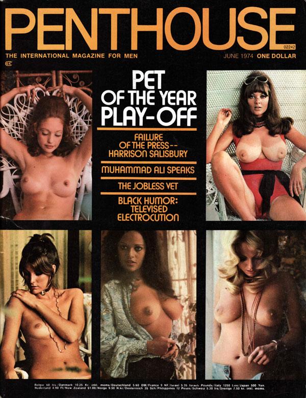 Penthouse June 1974 magazine back issue Penthouse (USA) magizine back copy