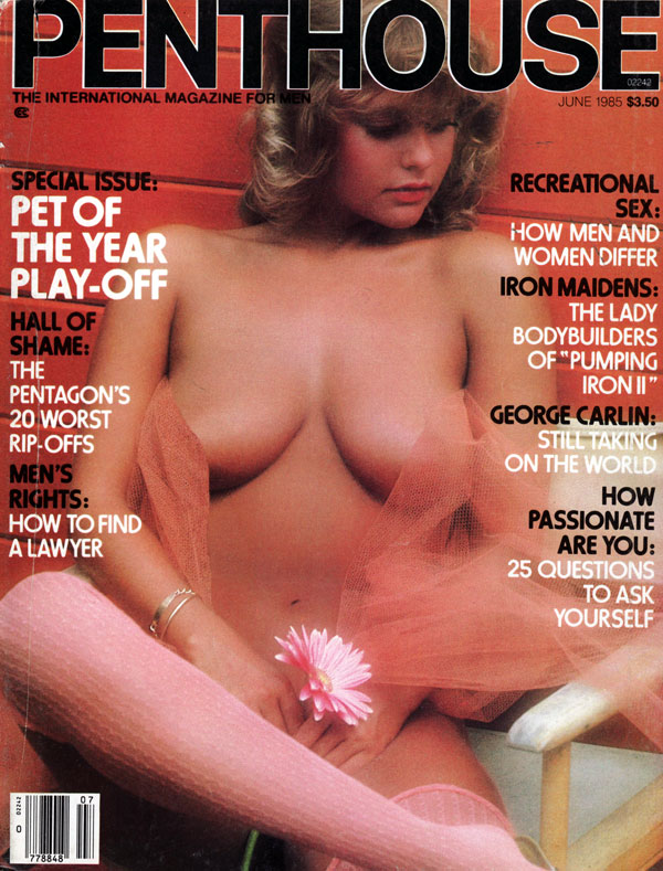 Penthouse June 1985 magazine back issue Penthouse magizine back copy june 1985 penthouse magazine, used back issues 1985 penthouse, international mag for men, iron maide
