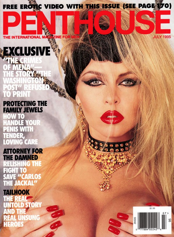 Penthouse July 1995 magazine back issue Penthouse magizine back copy july 1995 penthouse magazine, international magazine for men featuring sex politics and protest, sex