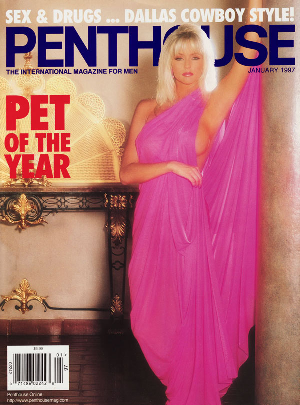 Penthouse January 1997 magazine back issue Penthouse magizine back copy january 1997 penthouse magazine, pet of the year issue, dallas cowboys, sexy nude pictorials of wome