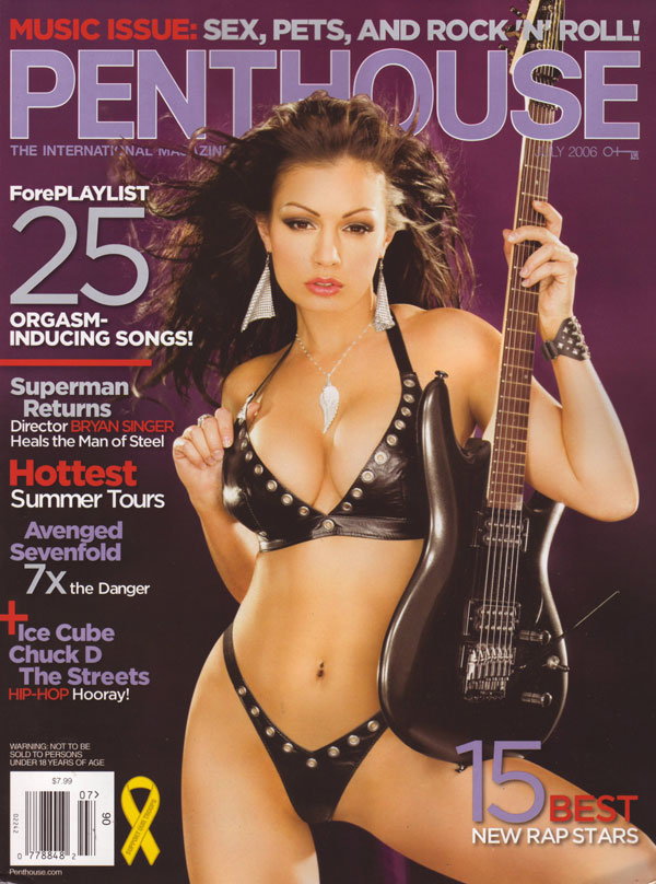 Penthouse July 2006 magazine back issue Penthouse magizine back copy penthouse music issue sex pets rock and roll used adult mens magazines vintage archive