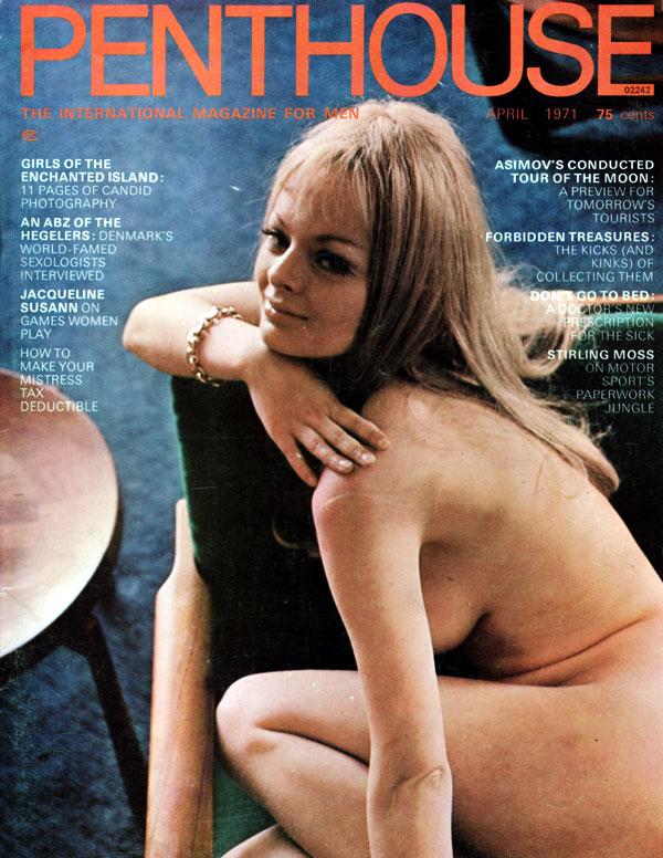 Penthouse April 1971 magazine back issue Penthouse magizine back copy april 1971 penthouse magazine cover, girls of ibiza, nude women, political articles, protest, back i