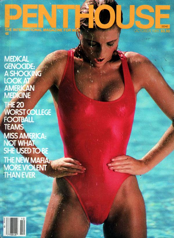 penthouse october 1985 adult magazine back issue penthouse. Black Bedroom Furniture Sets. Home Design Ideas