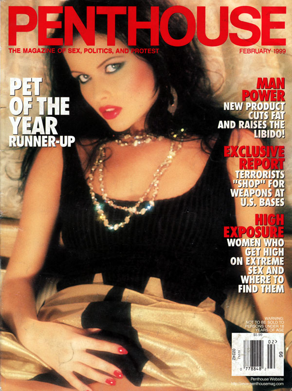 penthouse february 1999 adult magazine back issue penthouse. Black Bedroom Furniture Sets. Home Design Ideas