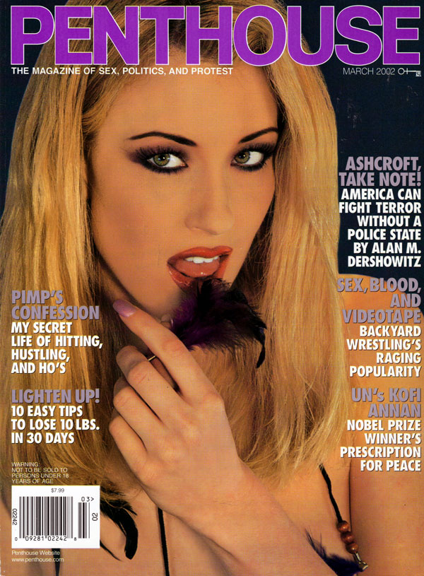 penthouse march 2002 adult magazine back issue penthouse. Black Bedroom Furniture Sets. Home Design Ideas