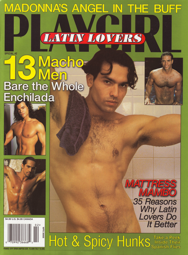 Playgirl Special # 2 - Latin Lovers magazine back issue Playgirl Newsstand Special magizine back copy playgirl latin lovers madonna angel buff macho men bare hot spicy hunks paul anthony ortiz shawn
