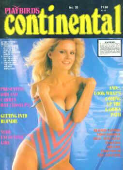 Playbirds Continental Original # 35 magazine back issue Playbirds Continental Original magizine back copy