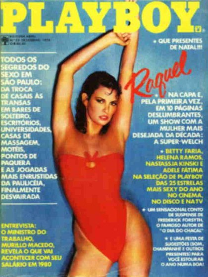 Playboy (Brazil) December 1979 magazine back issue Playboy (Brazil) magizine back copy Playboy (Brazil) magazine December 1979 cover image, with Raquel Welch on the cover of the magazine