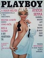 Playboy Hungary January 1991 magazine back issue