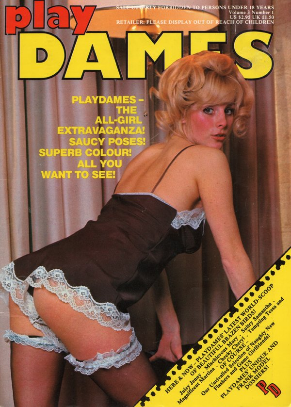 Play Dames Vol. 3 # 1 magazine back issue Play Dames magizine back copy Beautiful Brazen Birds, Naughty New Flashers,All-Girl Extravaganza,Game Girlfriends,Saucy Poses