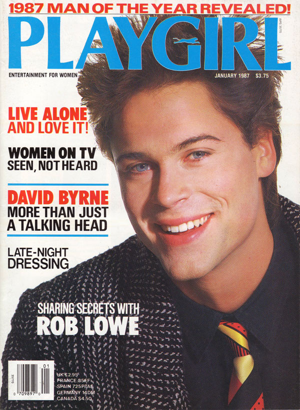 Playgirl January 1987 Magazine, Playgirl Jan 1987