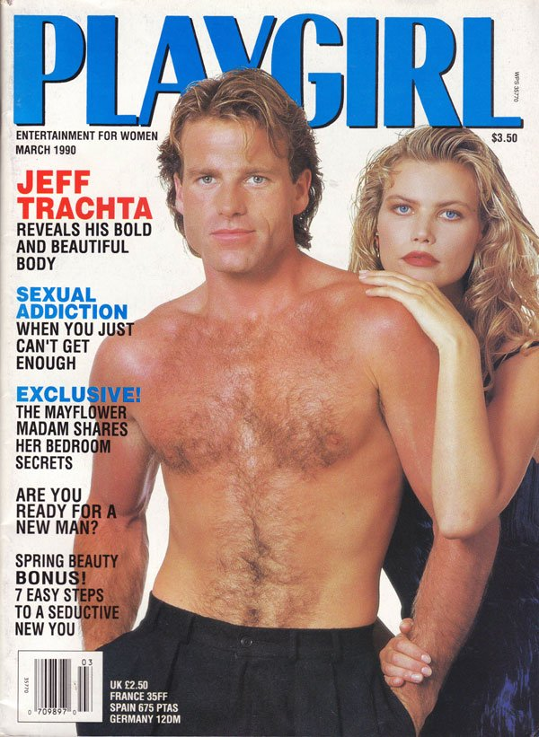 Playgirl March 1990 magazine back issue Playgirl magizine back copy entertainment for women, playgirl magazine, march 1990, used copies, back issues, jeff trachta, nude