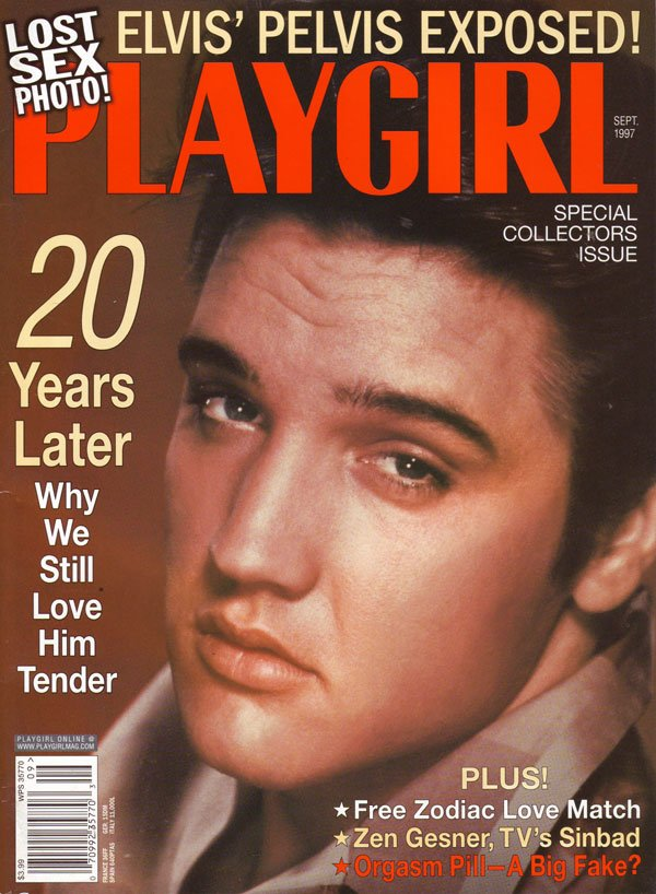 Playgirl September 1997 magazine back issue Playgirl magizine back copy elvis presley, playgirl, nude men, women entertainment,collectors, vintage, back issue