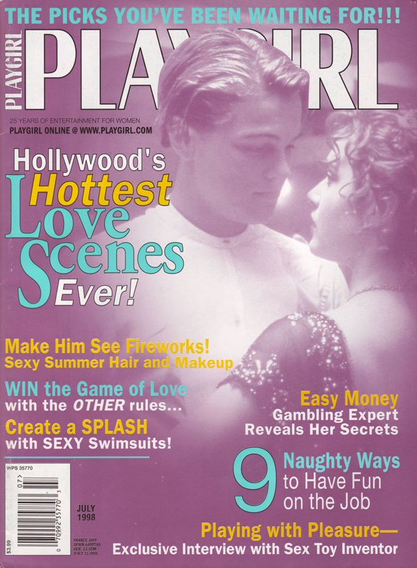 Playgirl July 1998 magazine back issue Playgirl magizine back copy Hollywood's Hottest Love Scenes Ever Playgirl BackIssue Magazine July 1998 with sexy nude men