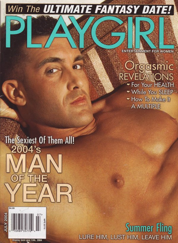 Playgirl July 2004 magazine back issue Playgirl magizine back copy Summer flings, lure him, lust him, leave him Playgirl Magazine explores this time honored tradition