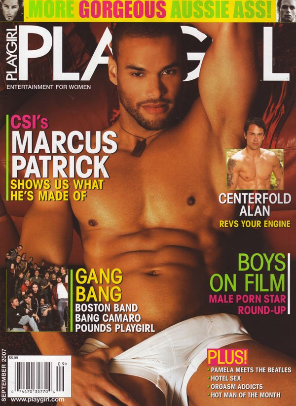 Playgirl September 2007 magazine back issue Playgirl magizine back copy marcus patrick playgirl september 2007 issue, hot cocks, front & back activity, porn stars, hotel se