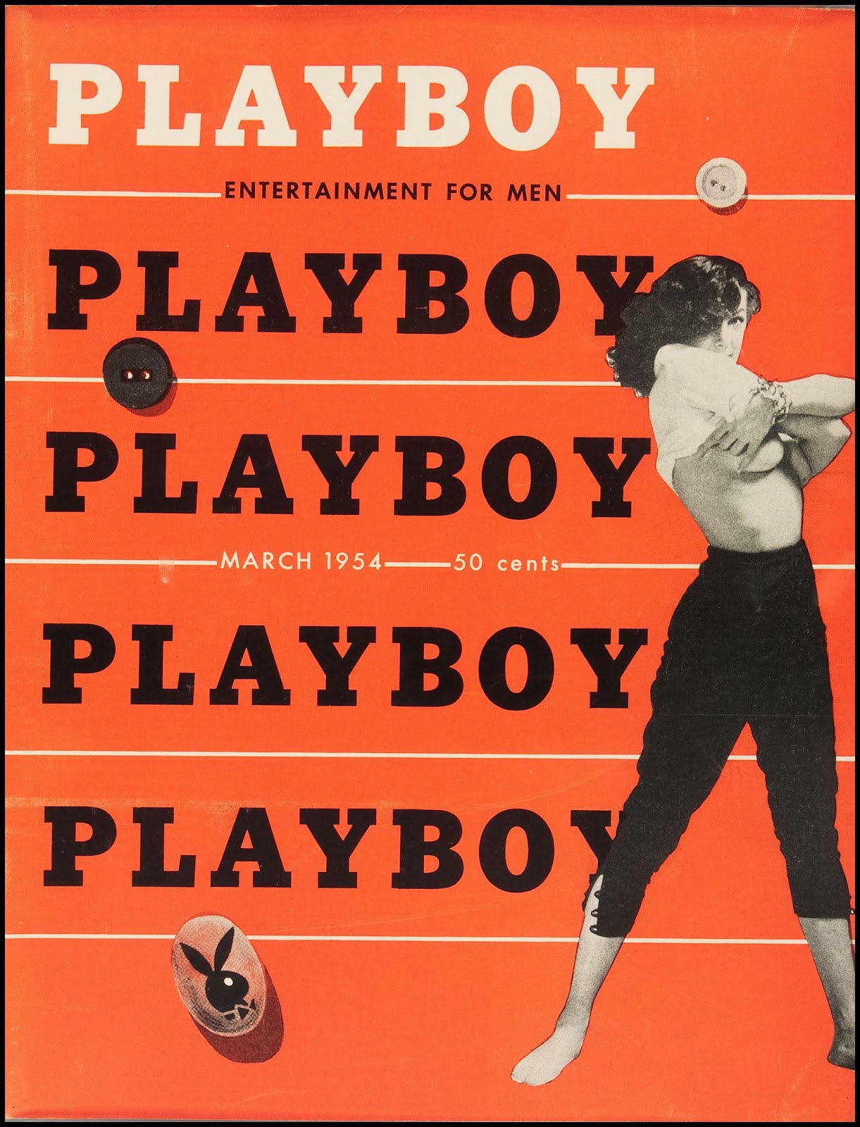 Playboy (USA) Vintage Magazine Back Issue Dated March 1954