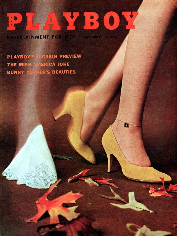 Playboy September 1959 magazine back issue Playboy magizine back copy Bunny's Honeys with a Bunny Yeager self portrait featured in this PlayboyMags Back Issue 1959