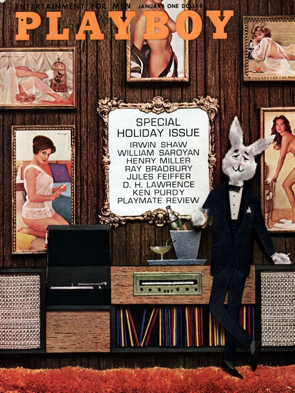 Playboy January 1962 magazine back issue Playboy magizine back copy Playboy's PlaymateReview with Dianne Danford, KarenThompson, JeanCannon, SheraleeConners, TonyaCrews
