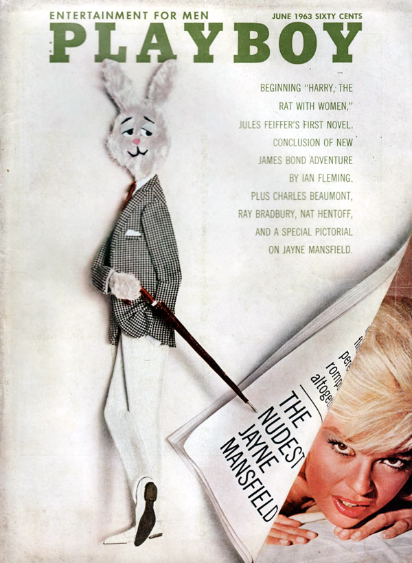 Playboy June 1963 magazine back issue Playboy (USA) magizine back copy JayneMansfield covergirl and nude photoshoot by BillKobrin Playboy BackIssue